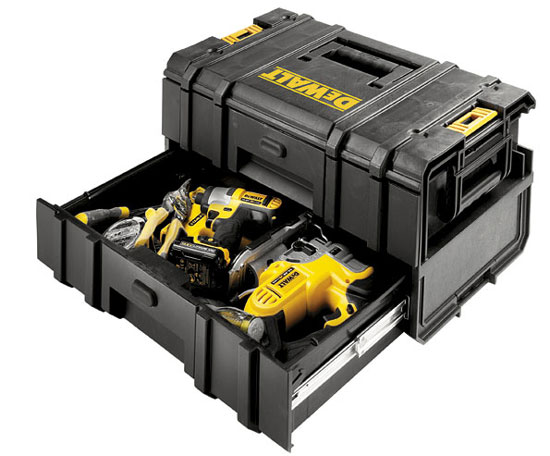 Dewalt DS250 ToughSystem Tool Box Filled with Power Tools and Hand Tools
