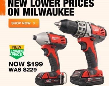 Home Depot Milwaukee Combo Kit Price Drop