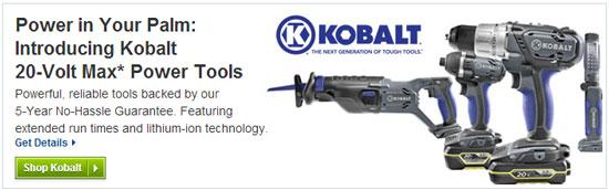 Kobalt 20V Max Cordless Power Tool Launch