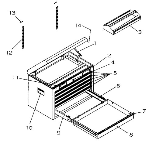 Craftsman Griplatch Ball Bearing Chest Parts Diagram