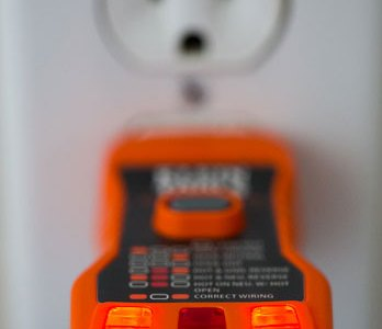 Klein Outlet Tester in Use