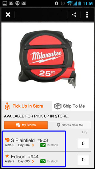 Home Depot Pro App Milwaukee Tape Measure Store Location