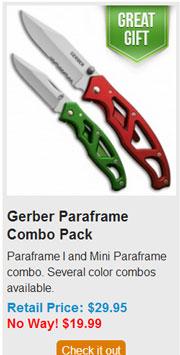 Blade HQ Black Friday 2013 05 Gerber Paraframe Combo Pack Deal