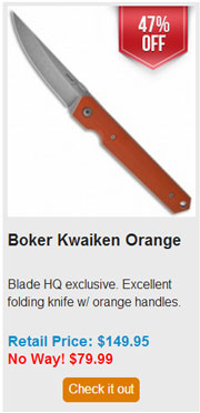 Blade HQ Black Friday 2013 08 Boker Kwaiken Orange Deal