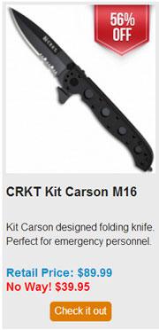 Blade HQ Black Friday 2013 09 CRKT Kit Carson M16 Deal