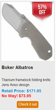 Blade HQ Black Friday 2013 10 Boker Albatros Deal
