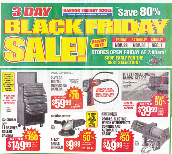 Harbor Freight Black Friday 2013 Tool Deals Page 3