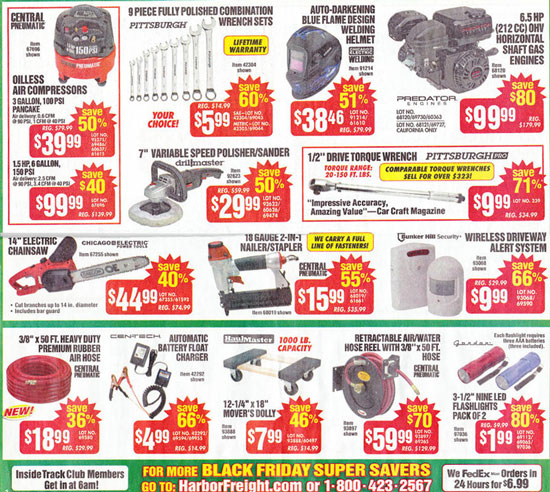Harbor Freight Black Friday 2013 Tool Deals Page 4