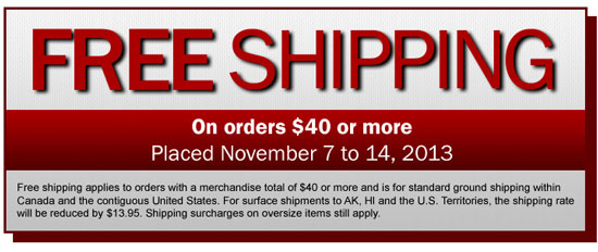 Lee Valley Fall Free Shipping Event