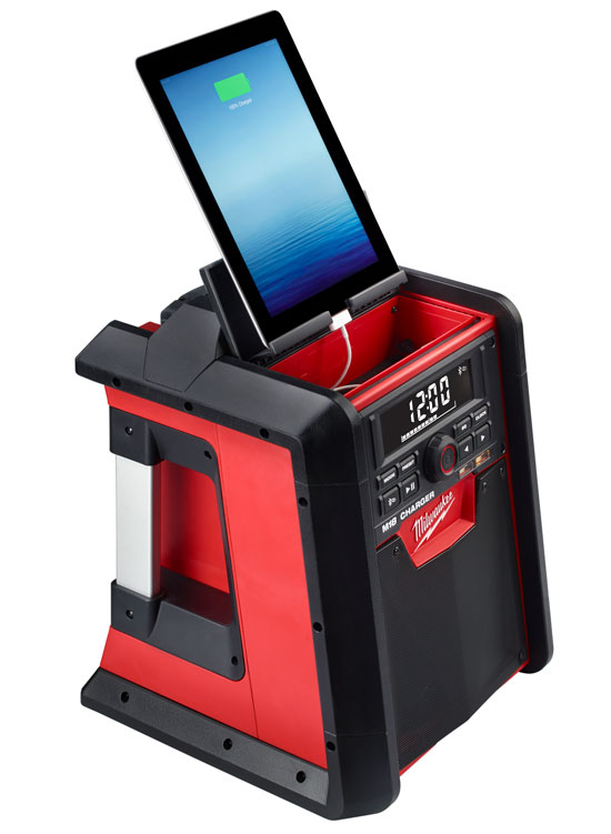 Milwaukee M18 Bluetooth Jobsite Radio Tablet Stand
