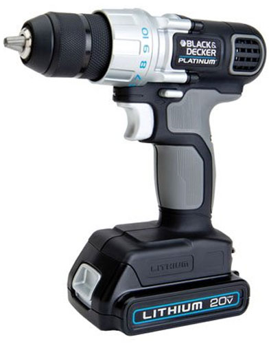 Black and Decker Platinum 20V Drill Driver