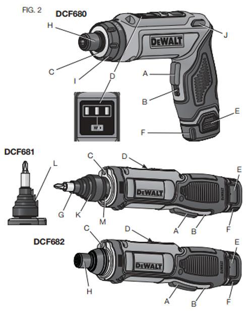 Dewalt 8V DCF681 and DCF682 Screwdrivers