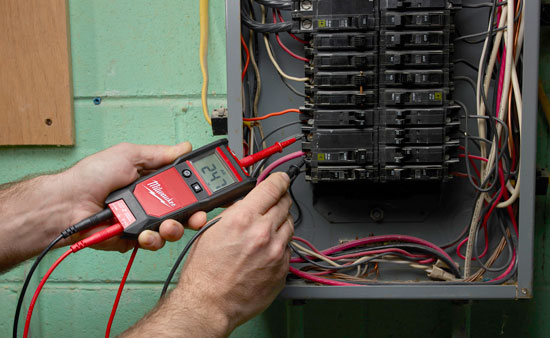 Milwaukee Voltage Continuity Tester 2213-20 and Electrical Panel