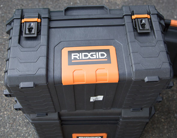 Ridgid Pro Tool Box Front and Bottom