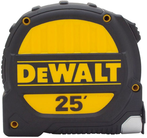 Dewalt ToughCase USA Built Tape Measure 25-foot