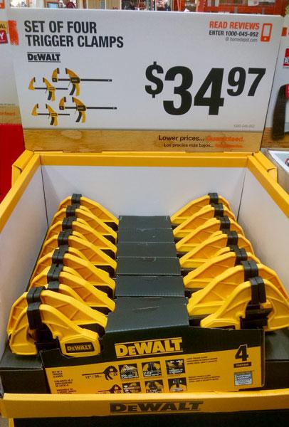 Dewalt Trigger Clamp Set Special Buy