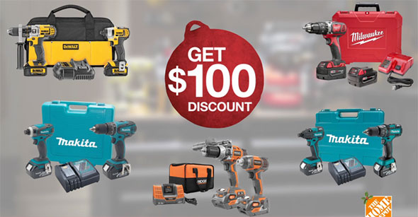 Home Depot Tool Tier Discount $100 Level