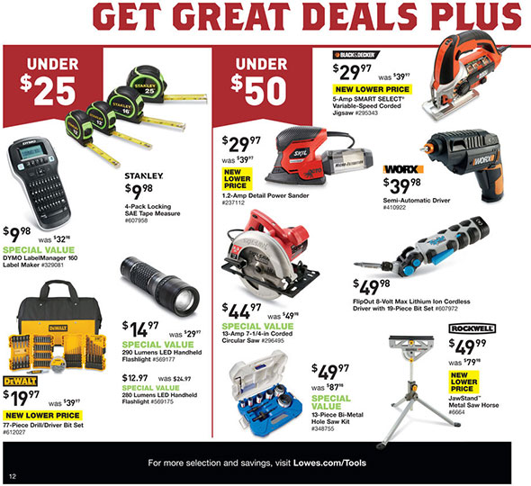 Lowes Pre-Black Friday 2014 Tool Deals Page 2