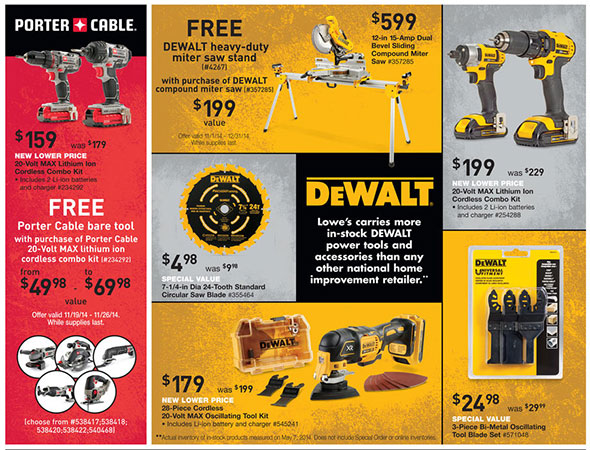 Lowes Pre-Black Friday 2014 Tool Deals Page 4