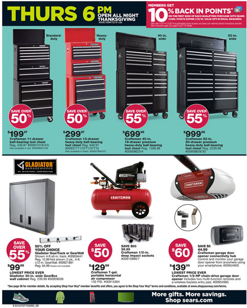Sears  Craftsman Black Friday 2014 Tool Deals
