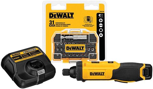 Dewalt DCF682 8V Gyro Screwdriver Kit and Bit Set