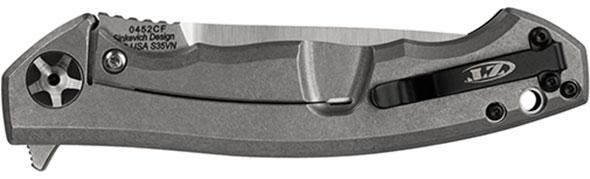 Zero Tolerance ZT0452CF Carbon Fiber Flipper Knife Closed