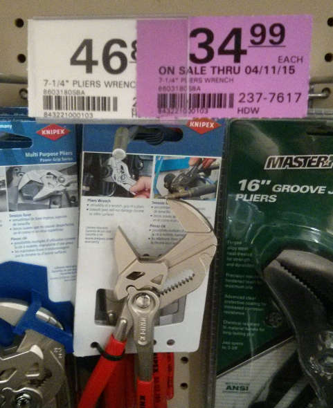 7 inch Knipex Pliers Wrench at Menards
