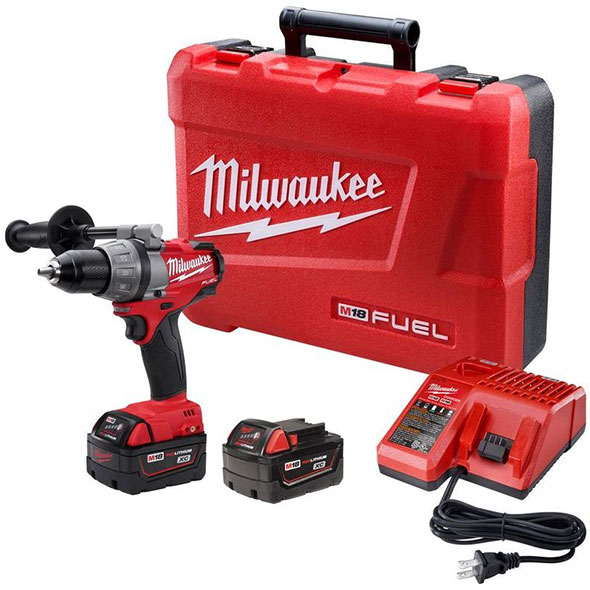 Milwaukee 2603-22 M18 Fuel Drill Driver XC Battery Kit