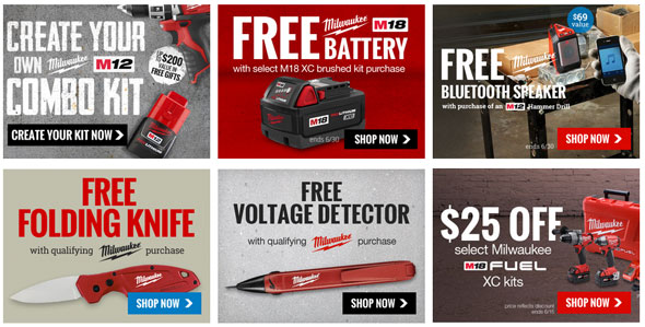 Milwaukee Deals at CPO Tools June 2015
