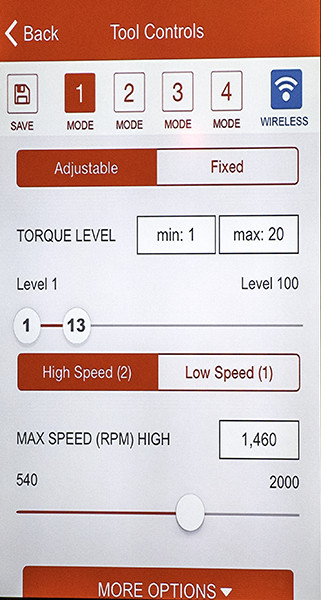 Milwaukee One Key Drill Torque and Speed Settings