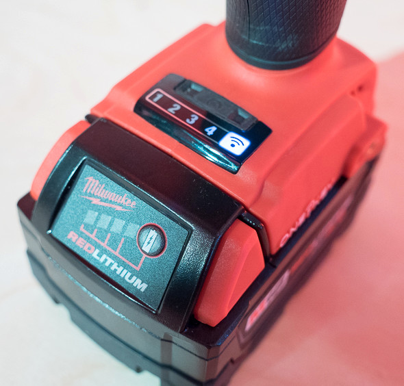 Milwaukee One Key M18 Fuel Brushless Drill Mode Buttons