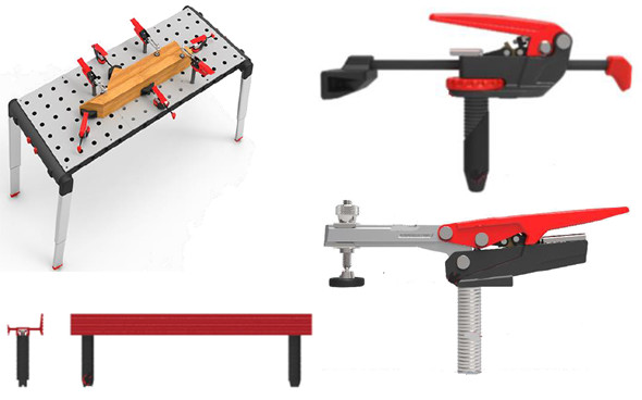 Craftsman Peg Table and Accessories