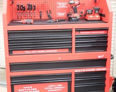 Milwaukee Ball Bearing Storage Cabinet Combo