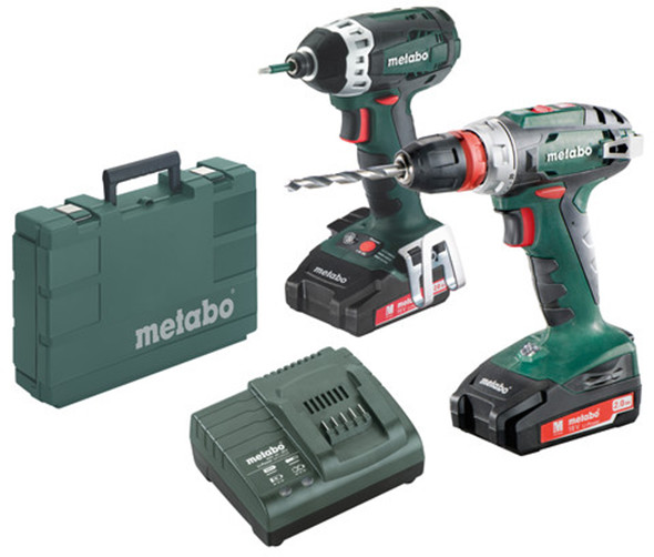 Metabo 18V BS18Q Drill and SSD18 LTX 200 Impact Driver Combo Kit