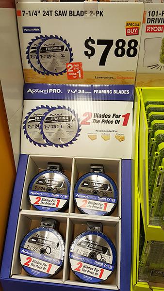Avanti Pro Circular Saw 2-Pack Home Depot Holiday 2015