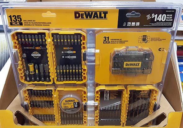 Dewalt 135pc Drilling and Driving Bit Set Home Depot Holiday 2015