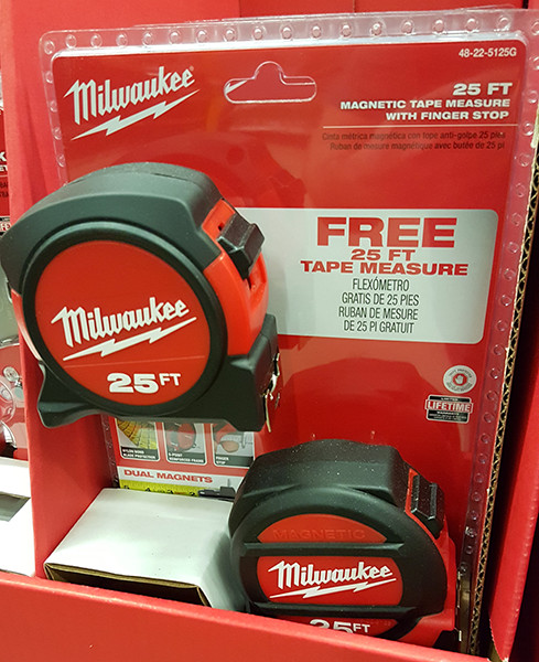 Milwaukee Free Magnetic Tape Measure Bundle Home Depot Holiday 2015