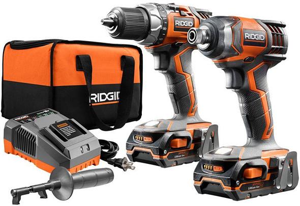Ridgid R9602 18V Drill and Impact Driver Kit