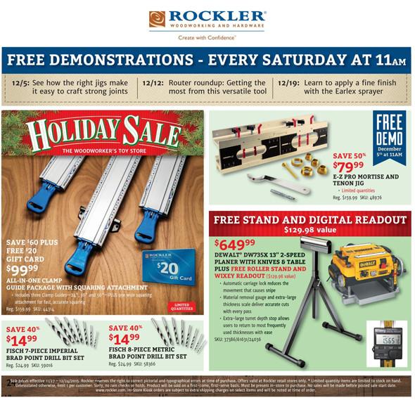Rockler Black Friday 2015 Tool Deals Page 14