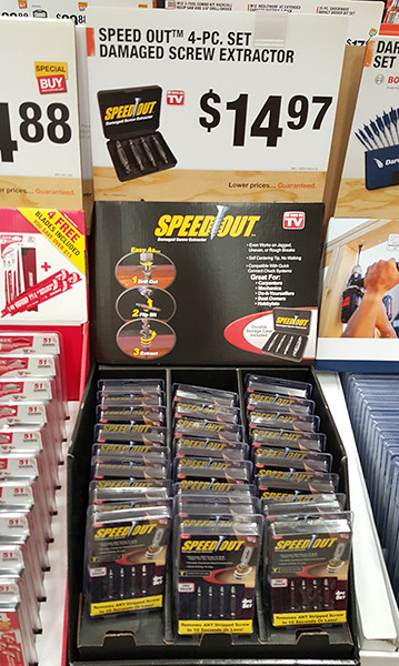 Speed Out 4pc Screw Extractor Set Home Depot Holiday 2015