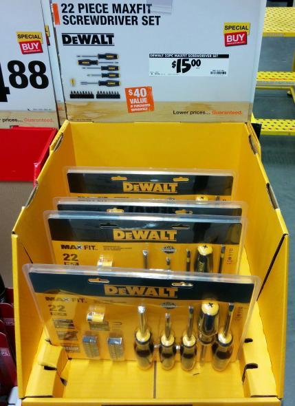 Dewalt Screwdriver Set Home Depot December Deals