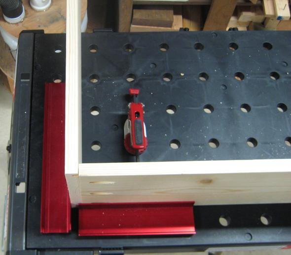 Using Peg Fences and Push Peg Clamp for Assembling Drawer