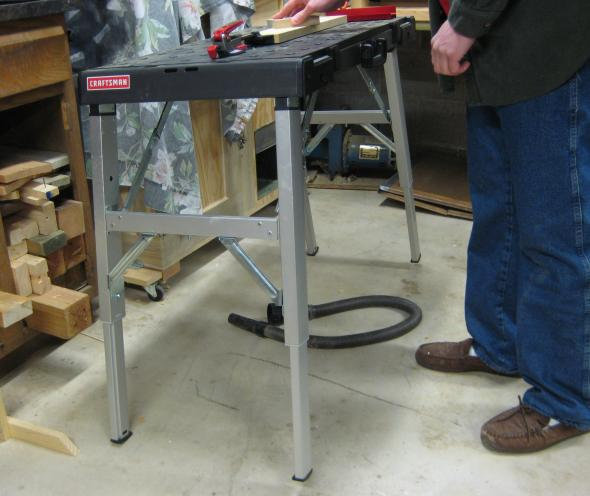 Craftsman workbench tipping as I try sanding