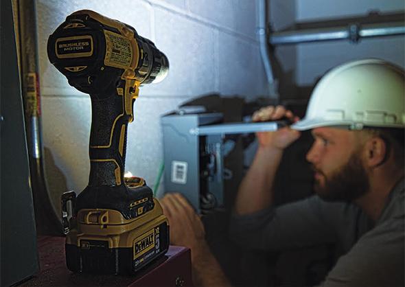 Dewalt Premium Brushless Drills LED Worklight Mode