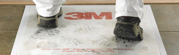 Dirt Catcher Super Sticky Mat in Use