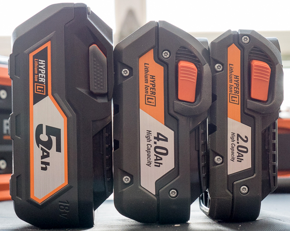 Ridgid 18V Battery Size Comparison