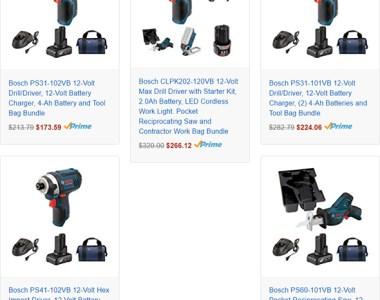 Bosch 12V Max Tool Bundles at Amazon
