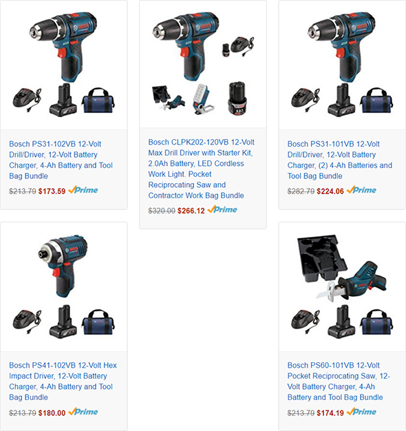 Bosch 12V Max Tool Bundles at Amazon