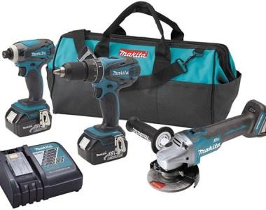 Makita XT324 18V Drill Impact Driver and Brushless Angle Grinder kit