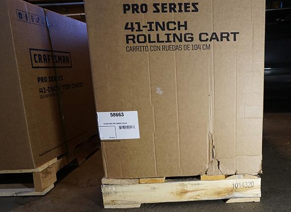 Damaged Craftsman Pro Series 41 inch rolling cart box